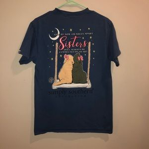 Simply Southern connected sisters dogs tee